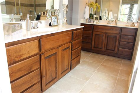 what is the best kitchen flooring master bath with knotty alder cabinets and white counter 9648