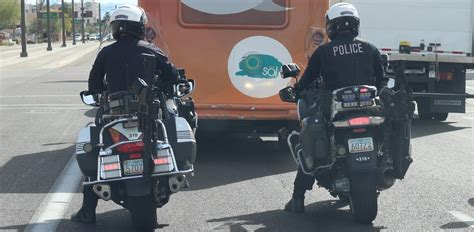 ar  mounted  tempe police motorcycles phoenix  times