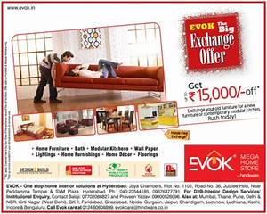 evok the big exchange offer upto rs15000 off on wide With home furniture online offers