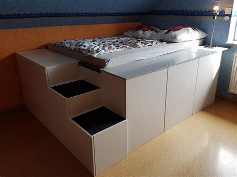 Bett Aus Ikea Küchenschränken Mit Homematic-integration