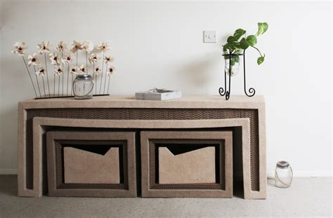 home decor furniture our greener future turns food waste and cardboard into