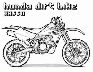 Dirt bike coloring pages coloring pages for boys 10 for Honda 125 dirt bike