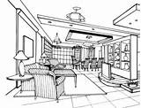 Coloring Room Living Pages Drawing Line Interior Printable Victorian Supercoloring Books Categories Paper Version sketch template
