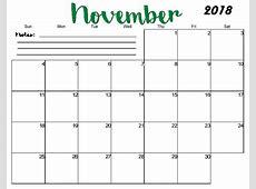 Free Printable Blank Monthly Calendar 2018 Latest Calendar