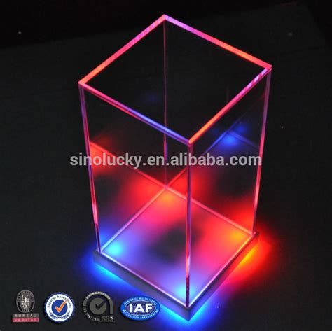light box led display new clear cube acrylic led display box customized acrylic