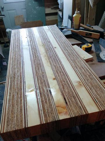 osb plywood table  workbench top canadian woodworking