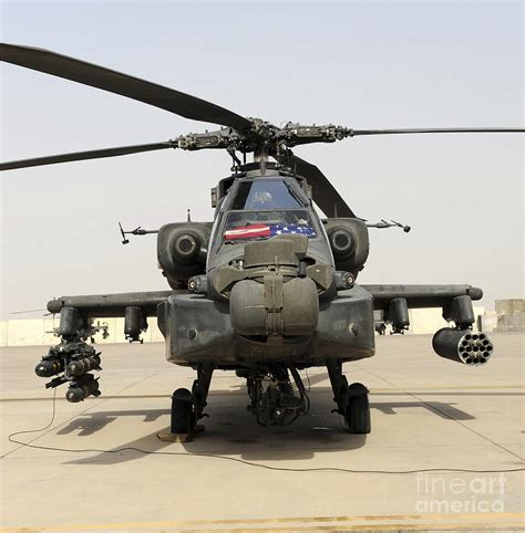 Front View Of An Ah-64d Apache Longbow Photograph By