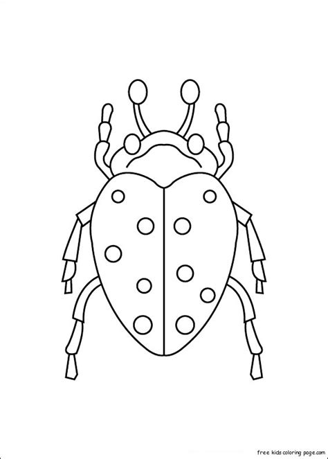 print  insects carrion beetles coloring pagesfree