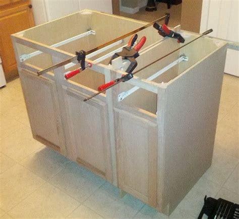diy kitchen island  install