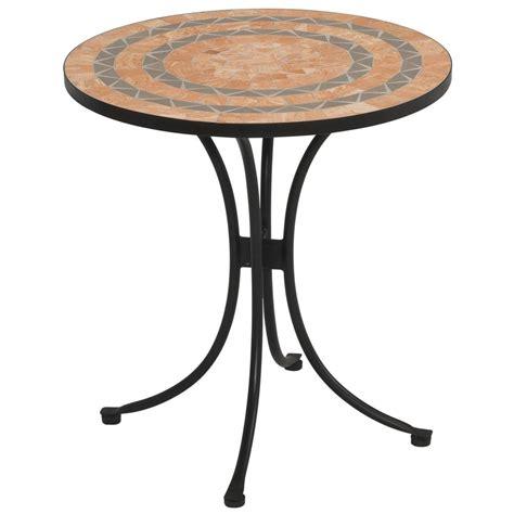 Terra Cotta Tile Top Outdoor Bistro Table  225048, Patio