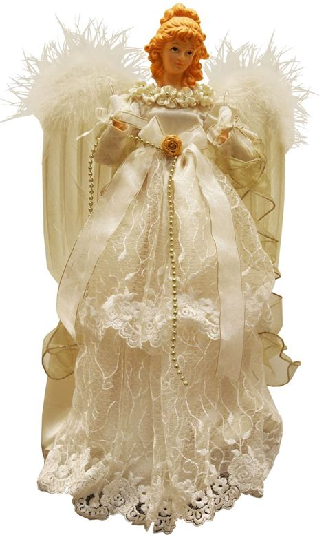 Christmas Tree Toppers Angels by Cream Angel Tree Topper Christmas Angels Pinterest