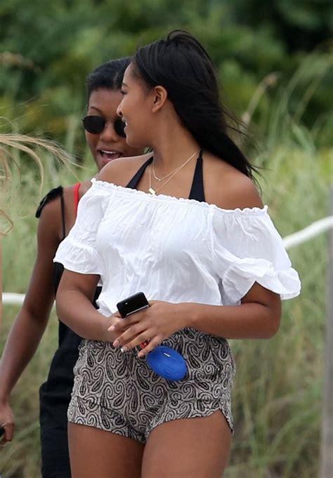 Sasha Obama Photos Photos  Sasha Obama Vacations In Miami