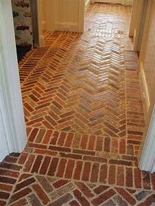 Mudroom floor thin english pub brick brings instant for Cost of brick flooring