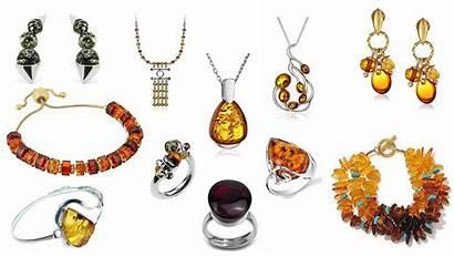 Amber Jewelry Pieces Heavy Earrings Necklaces Bracelet