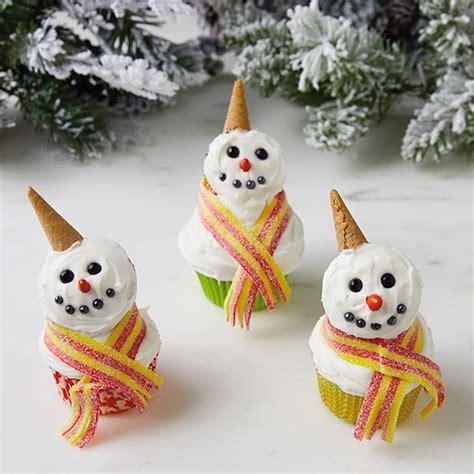 snowman cupcakes hallmark ideas inspiration