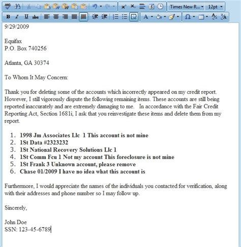 609 letter template pdf credit dispute letter pdf articleezinedirectory