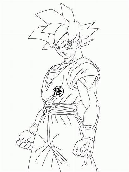 Coloring Pages Super God Saiyan Goku Ball