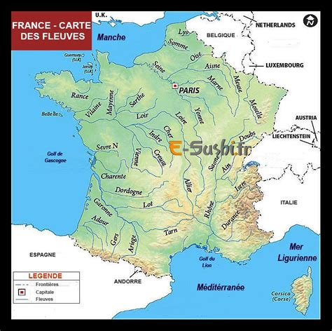 Carte De Avec Fleuves Et Rivières by Carte Des Rivi 232 Res Et Fleuves De