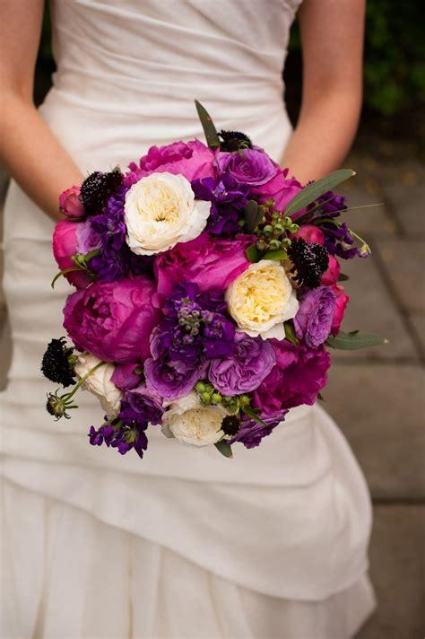 Magenta And Purple Bridal Bouquet Jewel Tones