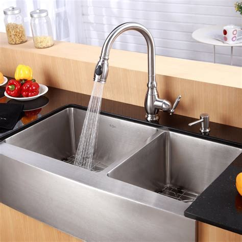 Kraus KPF2150SD20 Single Lever Pull Out Kitchen Faucet