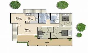 Simple 3 Bedroom House Floor Plans Simple 3 Bedroom House ...
