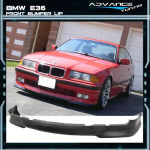 fits 92 98 bmw e36 3 series m tech msport style black front bumper lip pu 848524004926 ebay