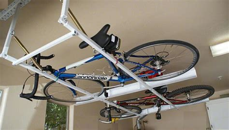 Ceiling Bike Rack Diy by Diy Ceiling Bike Rack For Garage Modern Ceiling Design