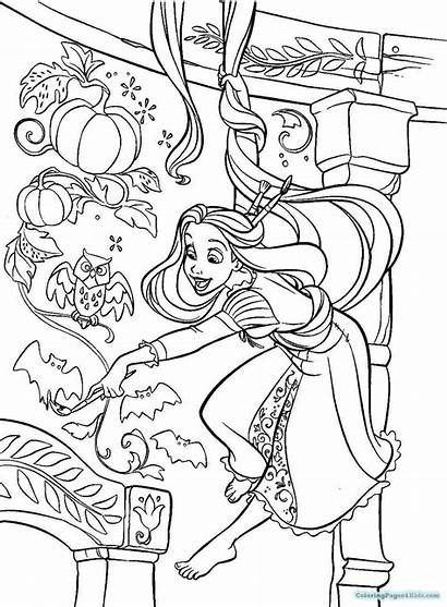 Coloring Rapunzel Pages Tower Tangled Printable Getcolorings