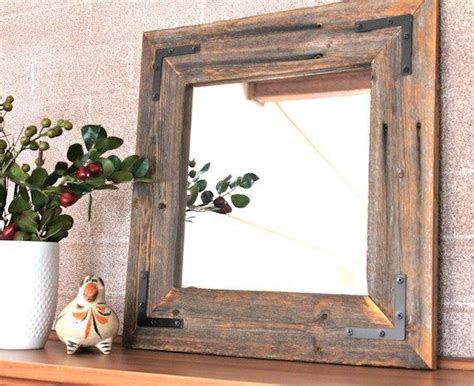 ready to ship rustic modern mirror reclaimed wood