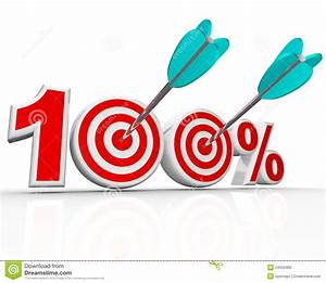 100 Percent Arrows In Targets Perfect Score Stock ...