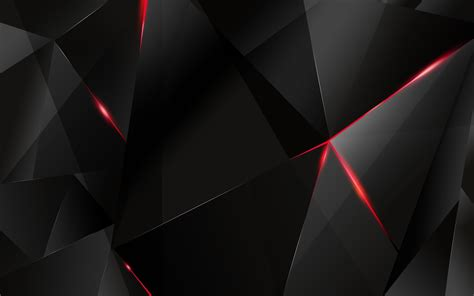 Abstract Black Hd by Black Polygon With Edges Abstract Hd Wallpaper