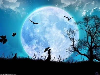 Sky Night Wallpapers Desktop Background Moon Evening