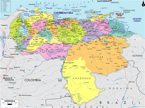 map  venezuela south america maps map pictures