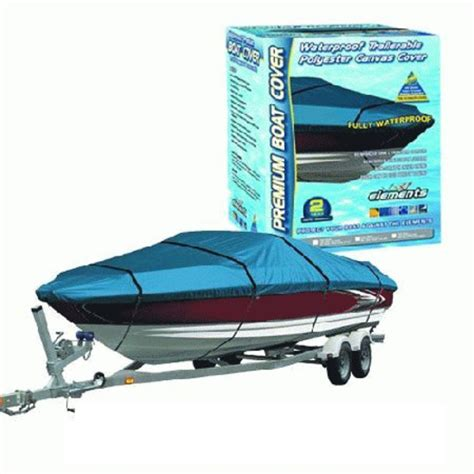 Boat Covers Waterproof by Canvas Waterproof Boat Cover 4 8m To 5 6m Or 16ft To 18 5ft
