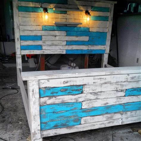 Size Pallet Bed Plans by Diy King Size Pallet Bed Frame