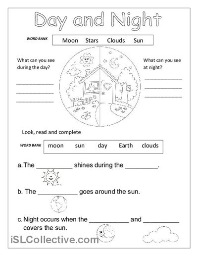 day and worksheet free esl printable worksheets
