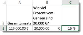 berechnen von prozentsaetzen office support
