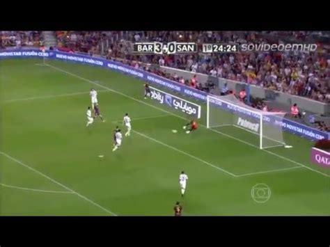 barcelona 8 x 0 santos gols do jogo mp3 indir