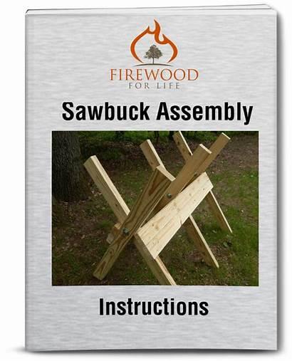 Sawbuck Plans Firewood Assembly Wood Folding Build