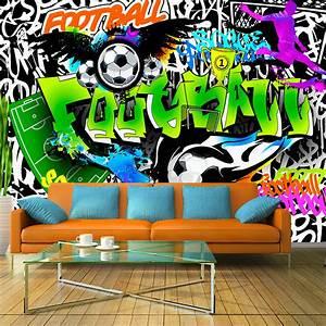 Graffiti Für Kinderzimmer : fototapete graffiti vlies tapete fu ball sport wandbilder 3 farben i a 0111 a b ebay ~ Sanjose-hotels-ca.com Haus und Dekorationen