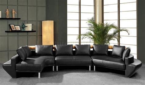 New Sectional by Modern Leather Sectional Sofa Mars Black