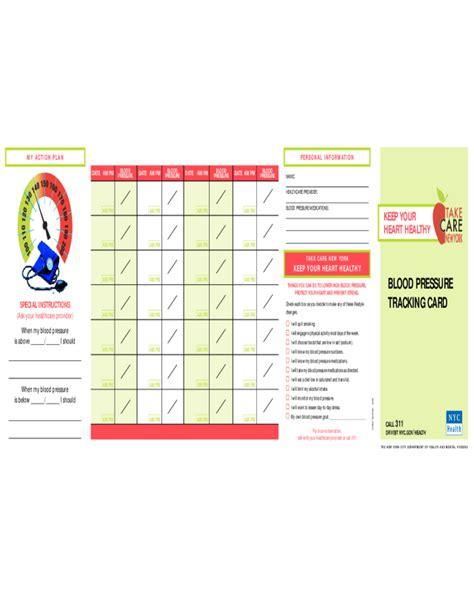 Printable Blood Pressure Chart