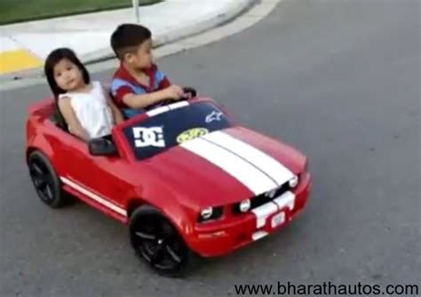 video little kid shows us how to drift in his mini mustang