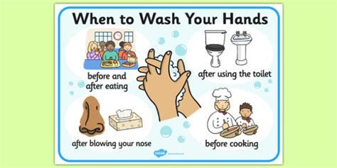 When To Wash Your Hands Display Sign  Wash Hands, Hands