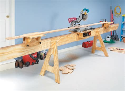 space saving miter  station woodworking project