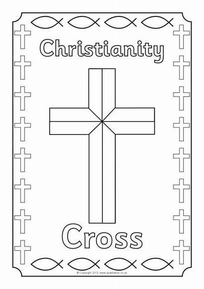Colouring Symbols Religious Sheets