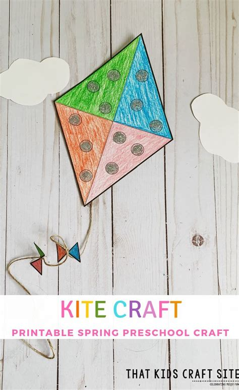 kite craft  preschool  printable template
