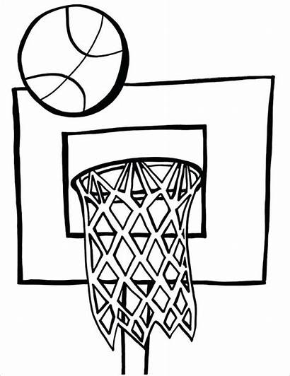 Coloring Basketball Pages Printable Template Pdf Goal