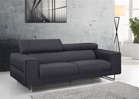 canapé tissus 3 places canapé design gris chablis en tissu fixe 3 places avec