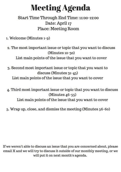 nonprofit  meeting agendas meeting agenda